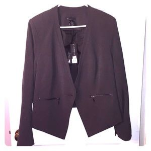 NWT Lane Bryant blazer Gray with zipper pockets.